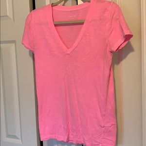Bright pink cotton t from j crew